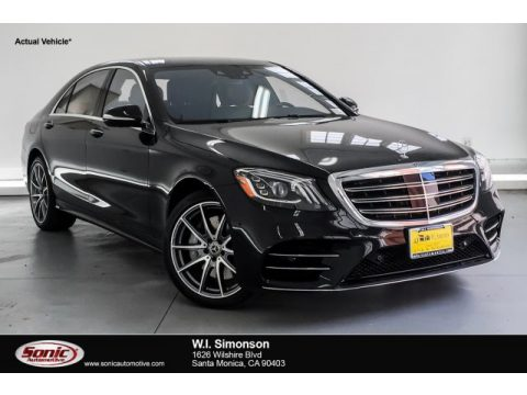 Black Mercedes-Benz S 560 Sedan.  Click to enlarge.