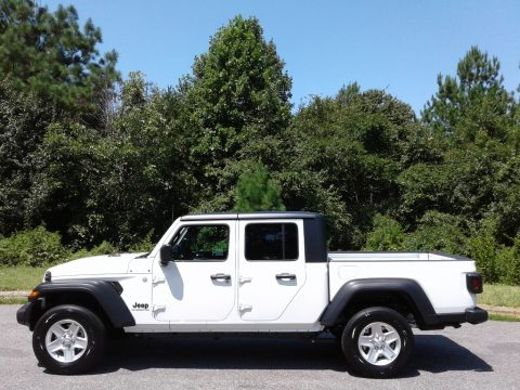 Bright White Jeep Gladiator Sport 4x4.  Click to enlarge.