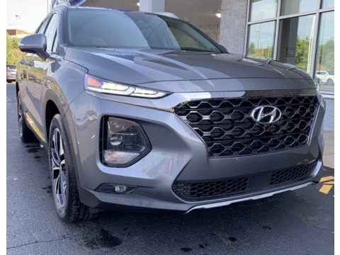 Machine Gray Hyundai Santa Fe Limited 2.0 AWD.  Click to enlarge.