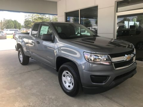 Satin Steel Metallic Chevrolet Colorado WT Extended Cab.  Click to enlarge.