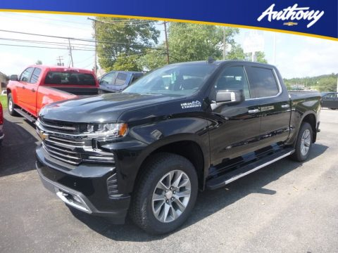 Black Chevrolet Silverado 1500 High Country Crew Cab 4WD.  Click to enlarge.