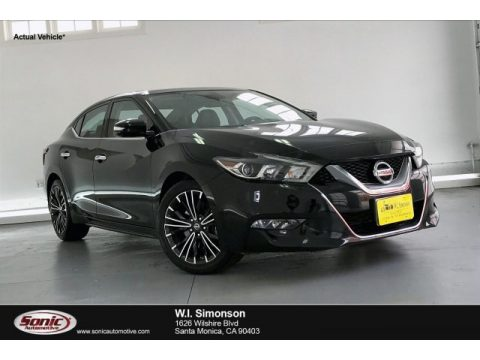 Super Black Nissan Maxima Platinum.  Click to enlarge.