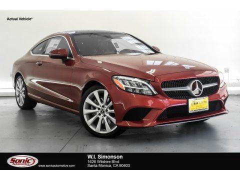 designo Cardinal Red Metallic Mercedes-Benz C 300 Coupe.  Click to enlarge.