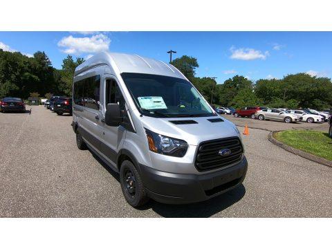 Ingot Silver Ford Transit Passenger Wagon XL 350 HR Long.  Click to enlarge.