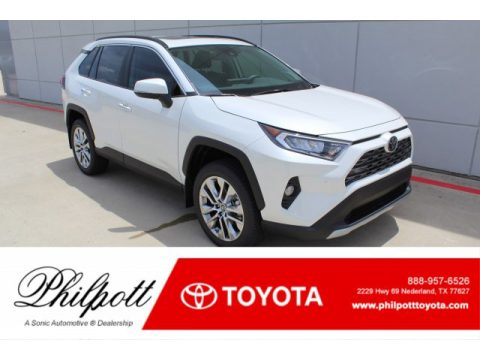 Blizzard White Pearl Toyota RAV4 Limited.  Click to enlarge.