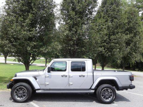 Billet Silver Metallic Jeep Gladiator Overland 4x4.  Click to enlarge.
