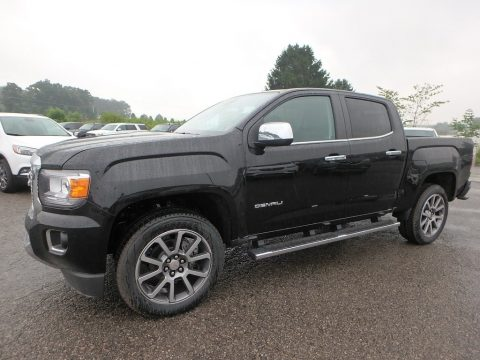 Onyx Black GMC Canyon Denali Crew Cab 4WD.  Click to enlarge.