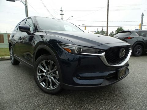 Deep Crystal Blue Mica Mazda CX-5 Signature AWD.  Click to enlarge.