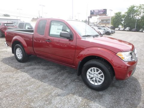 Cayenne Red Nissan Frontier SV King Cab 4x4.  Click to enlarge.
