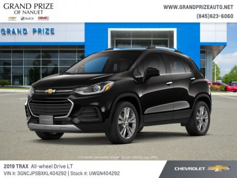 Mosaic Black Metallic Chevrolet Trax LT AWD.  Click to enlarge.