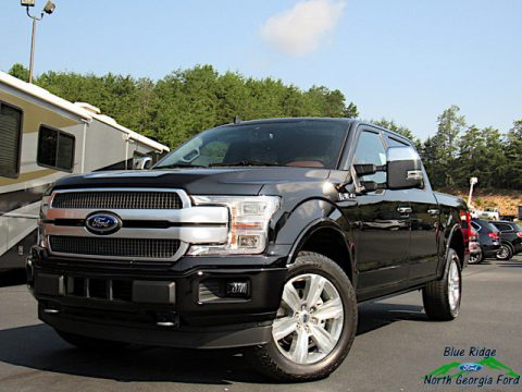 Agate Black Ford F150 Platinum SuperCrew 4x4.  Click to enlarge.