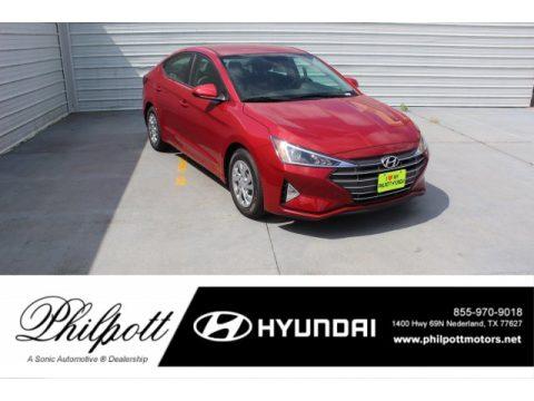 Scarlet Red Pearl Hyundai Elantra SE.  Click to enlarge.