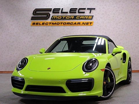 Paint To Sample Acid Green Porsche 911 Turbo S Cabriolet.  Click to enlarge.