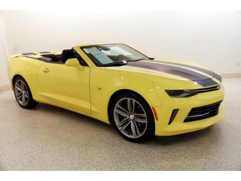 Bright Yellow Chevrolet Camaro LT Convertible.  Click to enlarge.