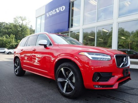 Passion Red Volvo XC90 T5 AWD R-Design.  Click to enlarge.