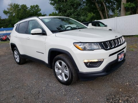 White Jeep Compass Latitude 4x4.  Click to enlarge.