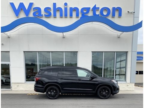 Crystal Black Pearl Honda Pilot Black Edition AWD.  Click to enlarge.