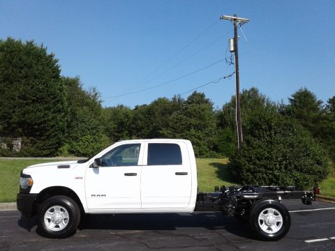 Bright White Ram 2500 Tradesman Crew Cab 4x4 Chassis.  Click to enlarge.