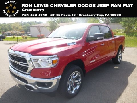 Flame Red Ram 1500 Big Horn Crew Cab 4x4.  Click to enlarge.