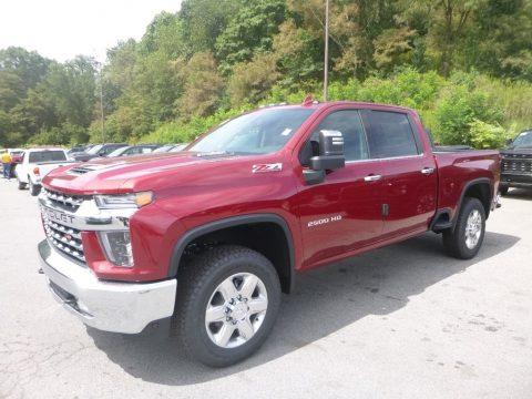 Cajun Red Tintcoat Chevrolet Silverado 2500HD LTZ Crew Cab 4x4.  Click to enlarge.