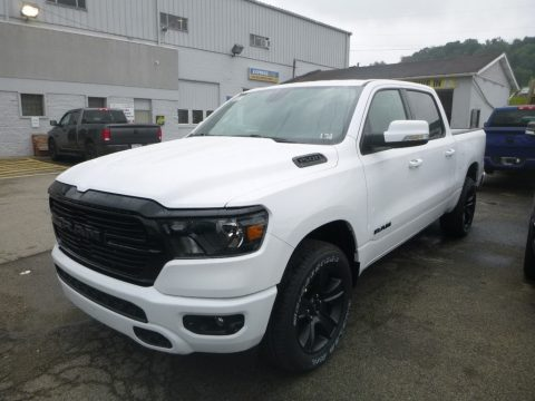 Bright White Ram 1500 Big Horn Night Edition Crew Cab 4x4.  Click to enlarge.