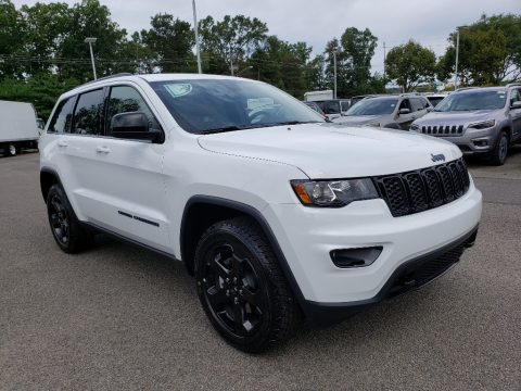 Bright White Jeep Grand Cherokee Upland 4x4.  Click to enlarge.
