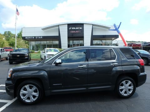 Graphite Gray Metallic GMC Terrain SLE AWD.  Click to enlarge.