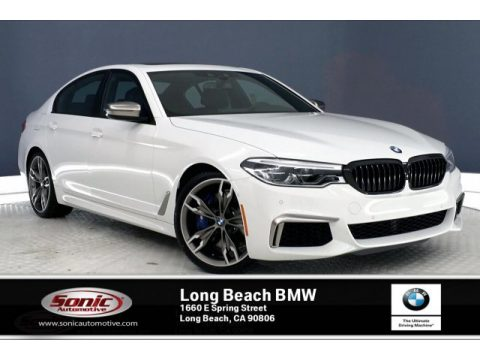 Alpine White BMW 5 Series M550i xDrive Sedan.  Click to enlarge.