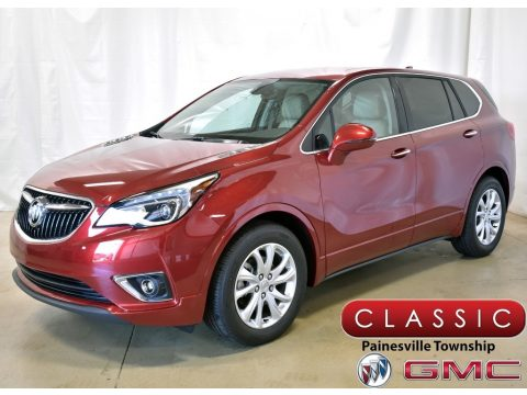 Chili Red Metallic Buick Envision Preferred.  Click to enlarge.