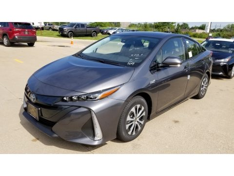 Magnetic Gray Metallic Toyota Prius Prime LE.  Click to enlarge.
