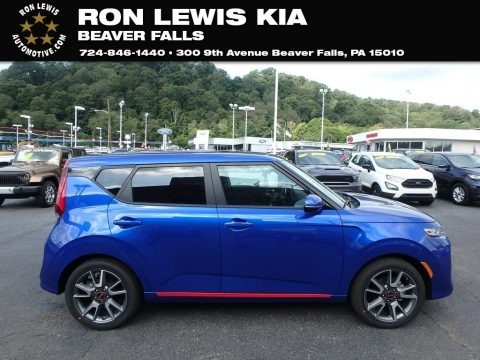Neptune Blue Kia Soul GT-Line.  Click to enlarge.