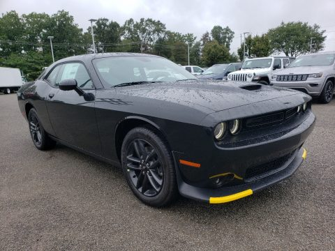 Pitch Black Dodge Challenger GT AWD.  Click to enlarge.