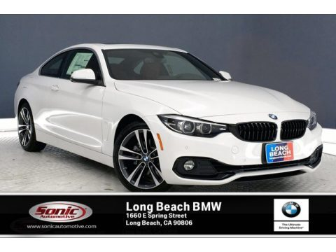 Alpine White BMW 4 Series 430i Coupe.  Click to enlarge.