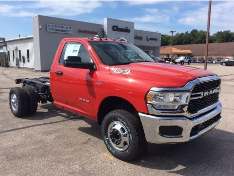 Flame Red Ram 3500 Tradesman Regular Cab 4x4 Chassis.  Click to enlarge.