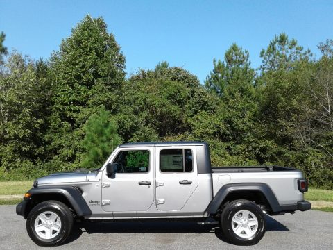 Billet Silver Metallic Jeep Gladiator Sport 4x4.  Click to enlarge.