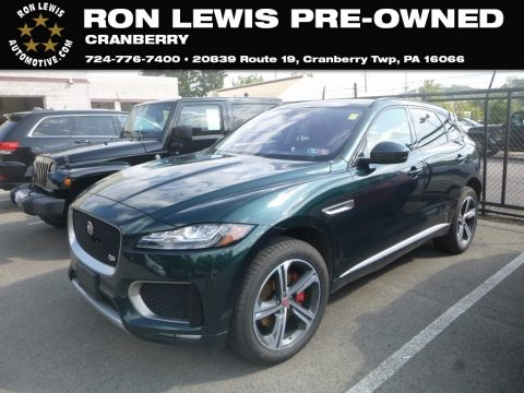 British Racing Green Metallic Jaguar F-PACE S AWD.  Click to enlarge.