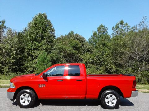 Flame Red Ram 1500 Classic Tradesman Quad Cab 4x4.  Click to enlarge.