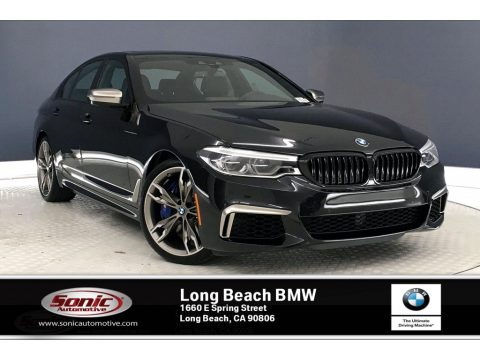 Black Sapphire Metallic BMW 5 Series M550i xDrive Sedan.  Click to enlarge.