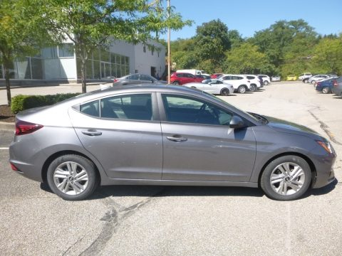 Machine Gray Hyundai Elantra SEL.  Click to enlarge.