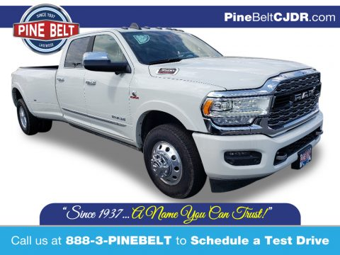 Pearl White Ram 3500 Limited Crew Cab.  Click to enlarge.