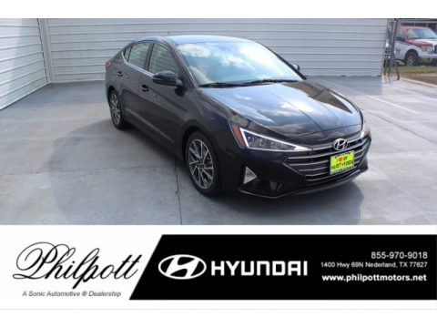 Phantom Black Hyundai Elantra Limited.  Click to enlarge.
