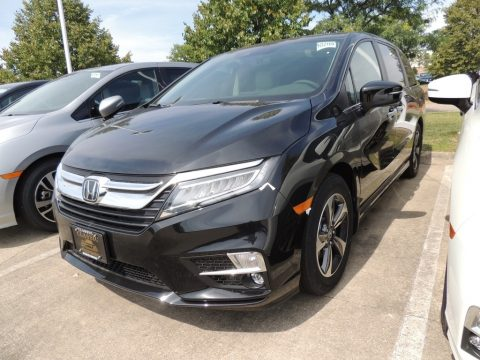 Crystal Black Pearl Honda Odyssey Touring.  Click to enlarge.