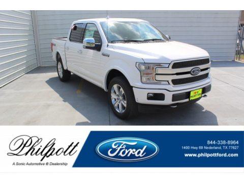 White Platinum Ford F150 Platinum SuperCrew 4x4.  Click to enlarge.