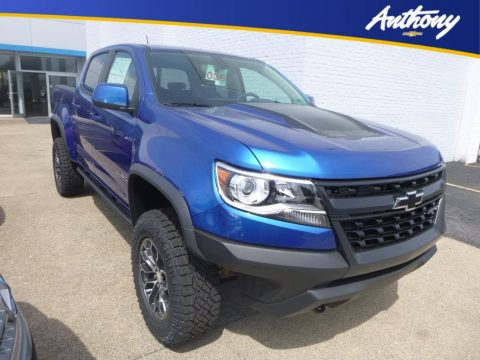 Kinetic Blue Metallic Chevrolet Colorado ZR2 Crew Cab 4x4.  Click to enlarge.