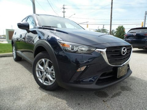 Deep Crystal Blue Mica Mazda CX-3 Sport AWD.  Click to enlarge.