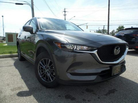 Machine Gray Metallic Mazda CX-5 Touring AWD.  Click to enlarge.