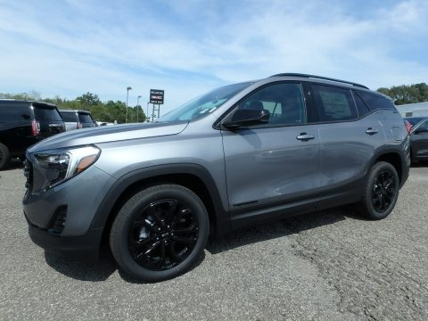 Satin Steel Metallic GMC Terrain SLE AWD.  Click to enlarge.