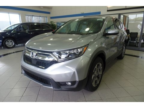 Lunar Silver Metallic Honda CR-V EX-L AWD.  Click to enlarge.
