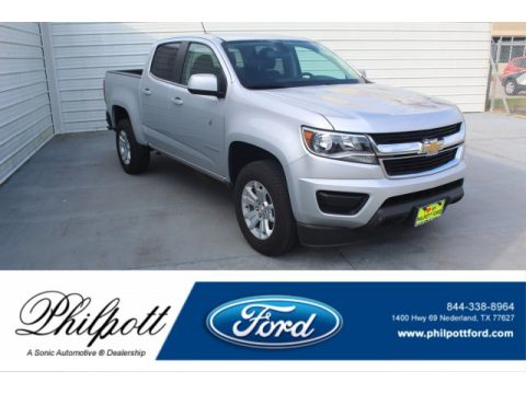 Silver Ice Metallic Chevrolet Colorado LT Crew Cab.  Click to enlarge.