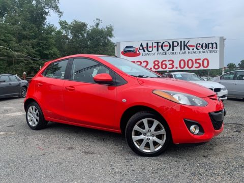 True Red Mazda MAZDA2 Touring.  Click to enlarge.